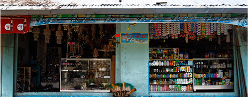 The local shop is not the largest, but will provide volunteers with all basic requirements.