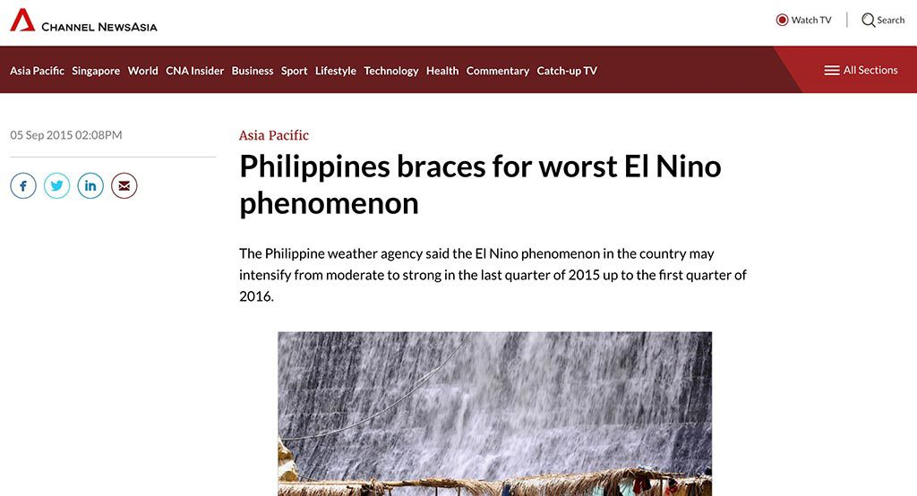 Philippines braces for worst El Nino phenomenon