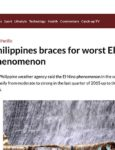 The philippines is subject to a massive el nino event