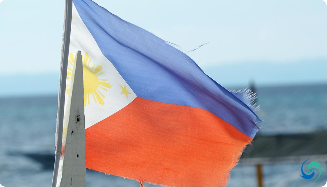 The Philippines flag - always flying proudly.