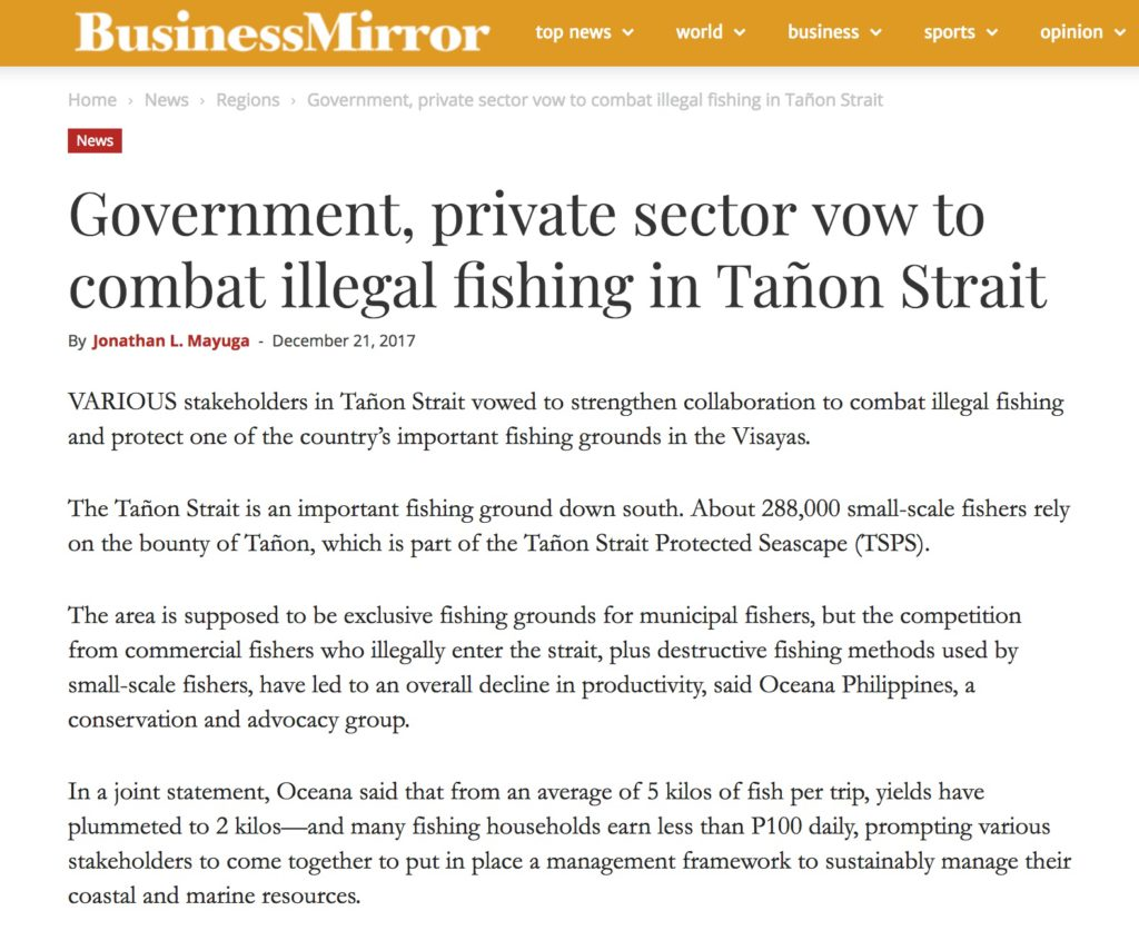 Government, private sector vow to combat illegal fishing