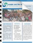 The front cover of the first People and the Sea project update, looking at all our marine conservation activities.